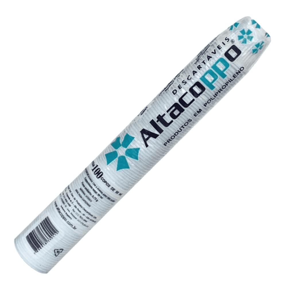Copo Plástico Descartável 50ml Altacoppo 100un Branco