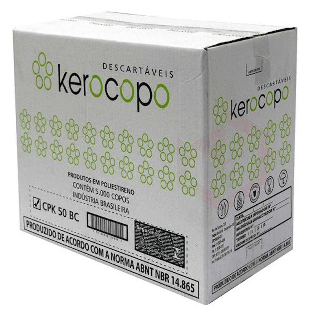 Copo Plástico Descartável 50ml Kerocopo 5000un Branco