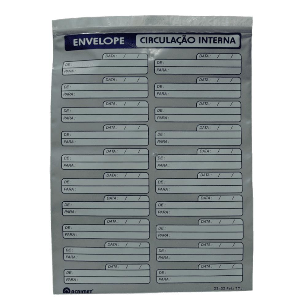 Envelope Acrimet Vai-Vem Plástico A4 12 Unidades 771.0