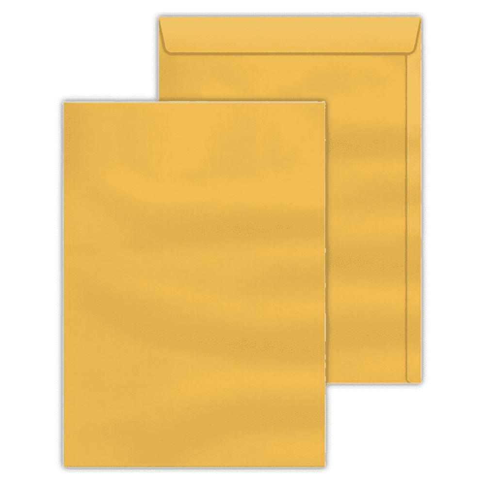 Envelope Saco Scrity 370x470mm Ouro 80g 100un SKO347