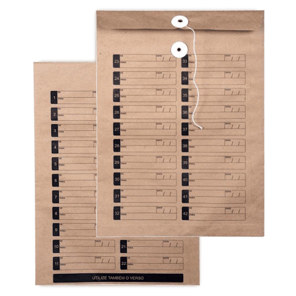 Envelope Saco Scrity Vai-Vem 250x353mm Kraft 80g 100un SKN635