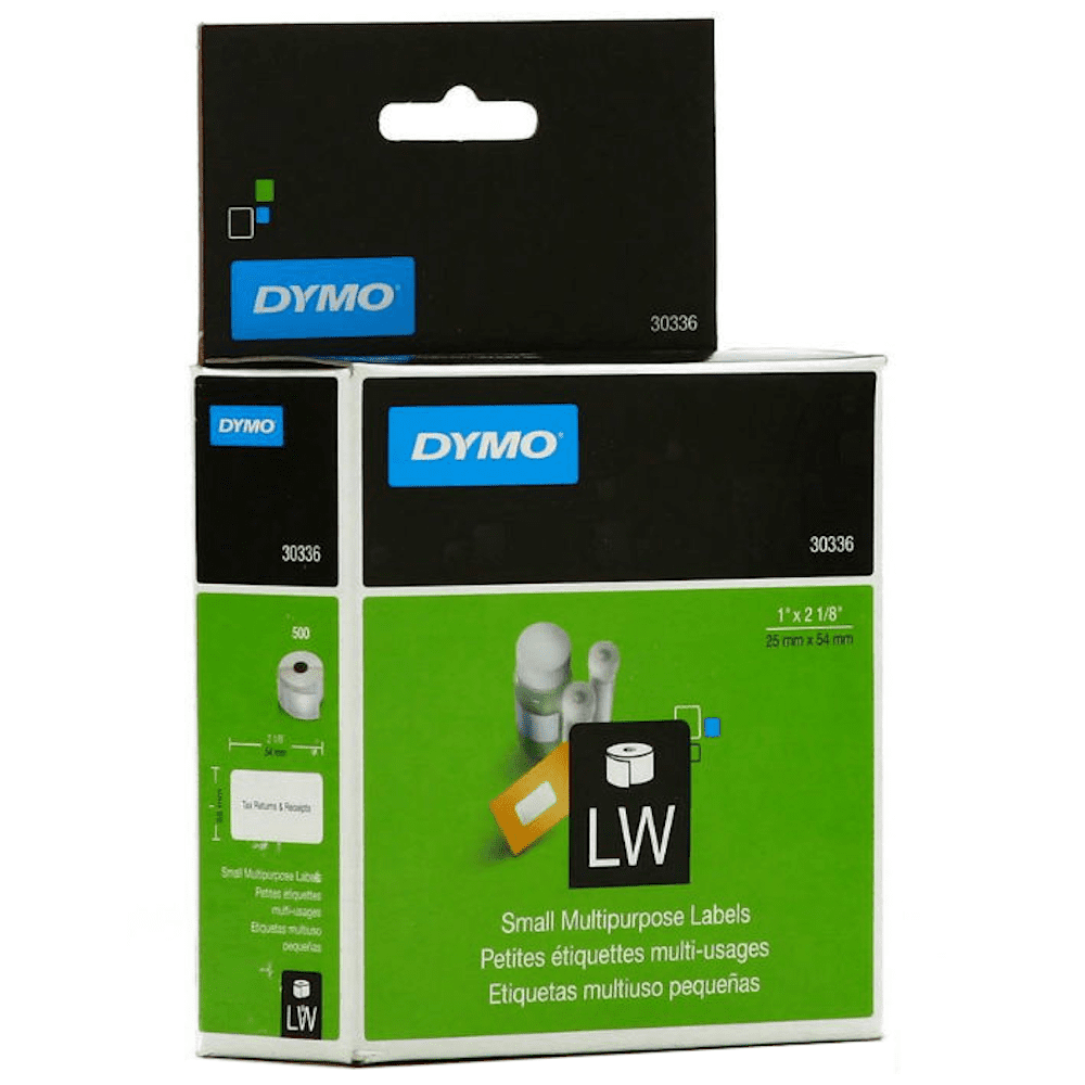 Etiqueta Dymo 30336 Impressora Térmica 25x54mm Rolo 500 Etiquetas