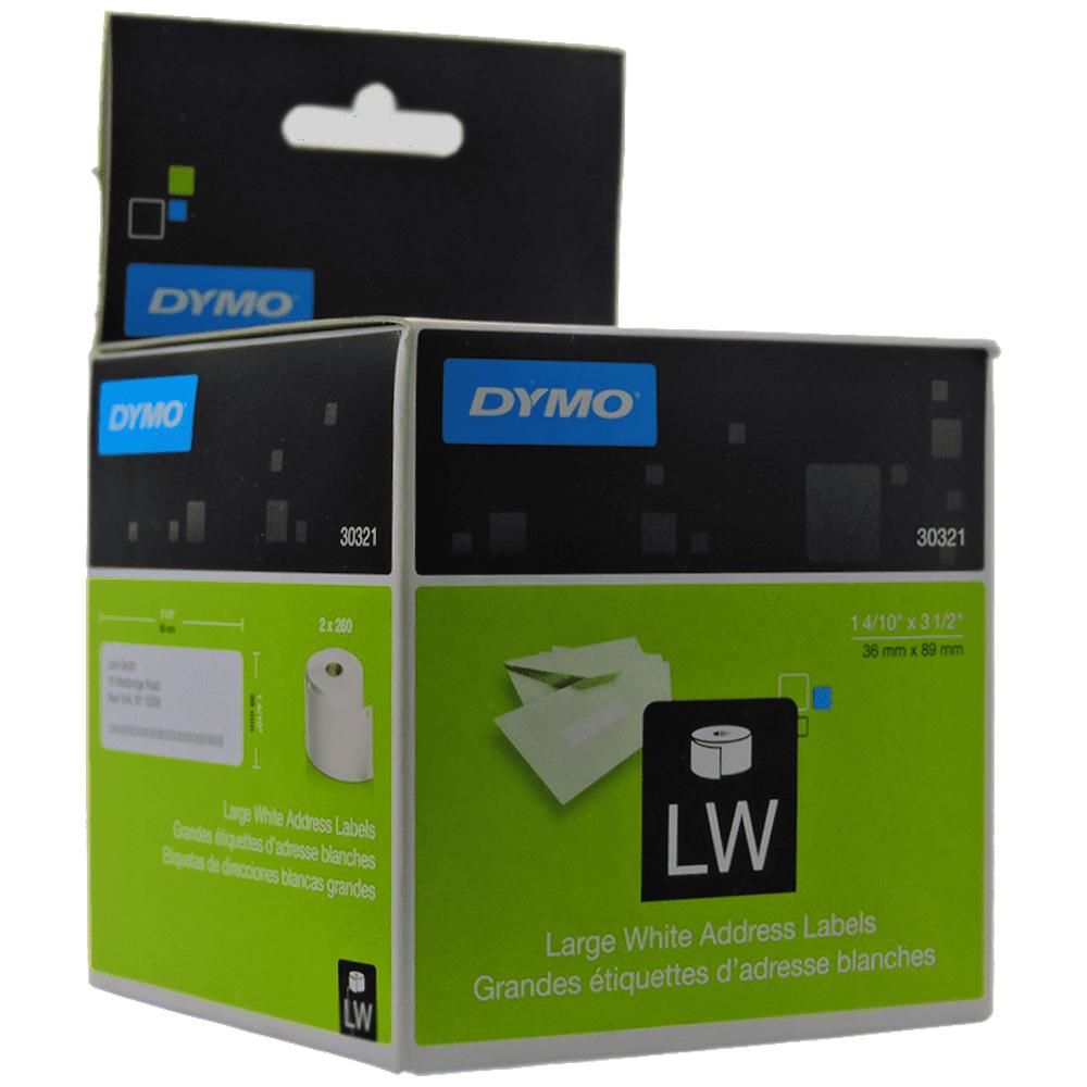 Etiqueta Dymo 30321 Impressora Térmica 36x89mm 2 Rolos 260 Etiquetas
