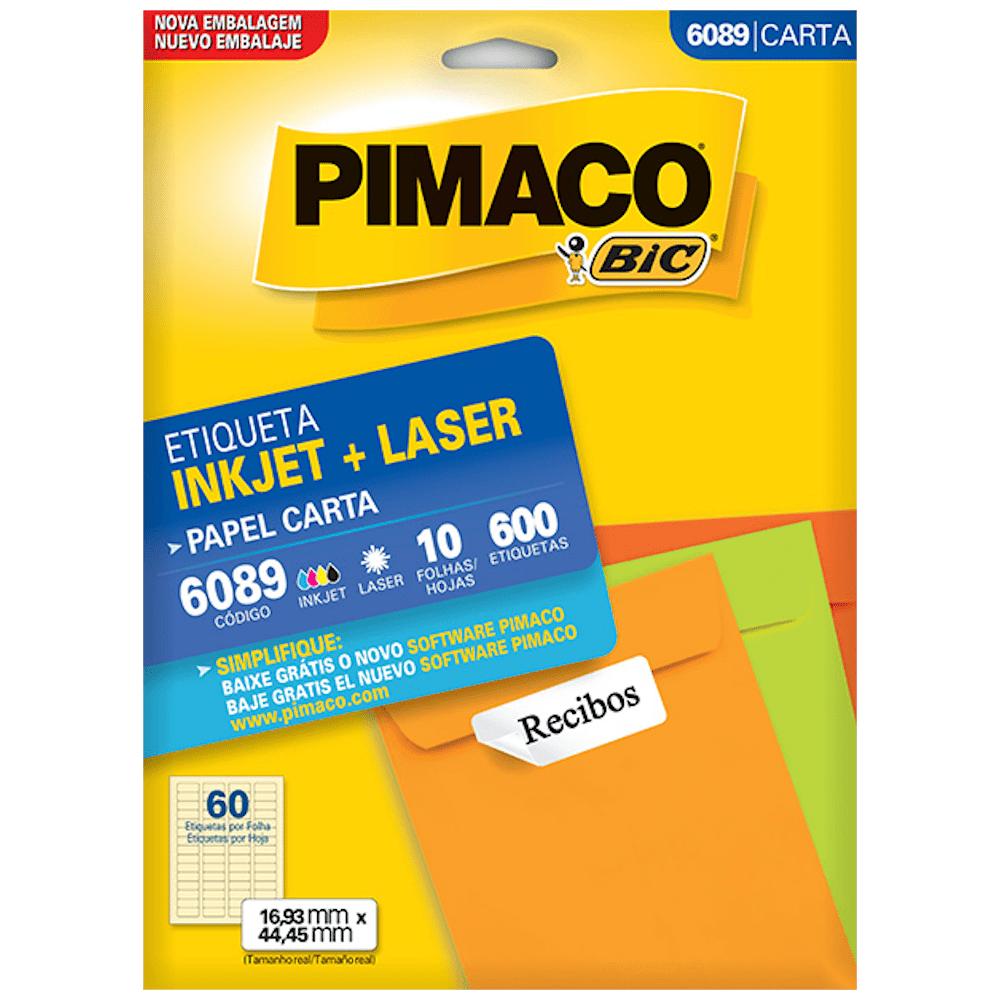 Etiqueta Pimaco 6089 Ink-Jet/Laser 16,83x44,45mm 600un