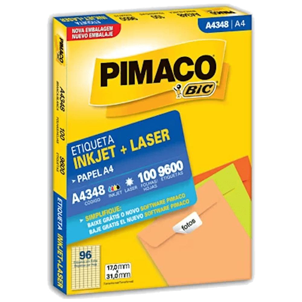 Etiqueta Pimaco A4354 Ink-Jet/Laser 25,4x99,0mm 2200un