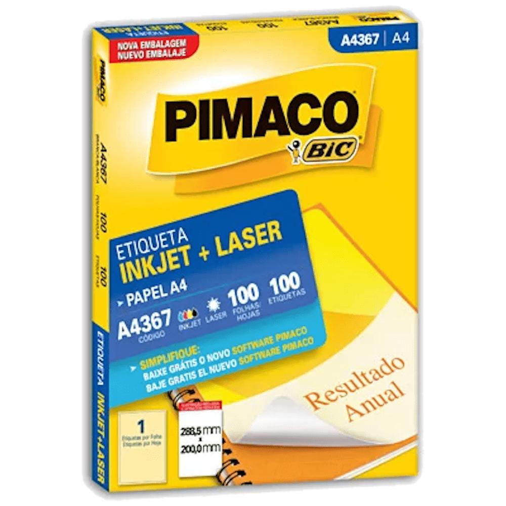 Etiqueta Pimaco A4367 Ink-Jet/Laser 288,5x200,0mm 100un