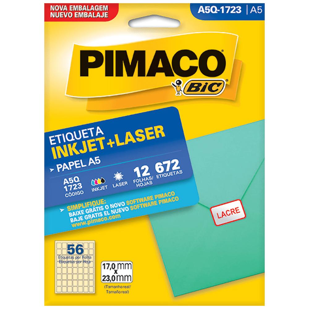 Etiqueta Pimaco A5Q-1723 Ink-Jet/Laser 17,0x23,0mm 672un