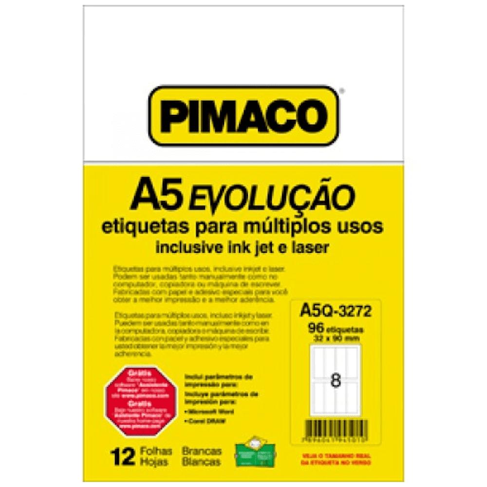 Etiqueta Pimaco A5Q-3272 Ink-Jet/Laser 32,0x90,0mm 96un