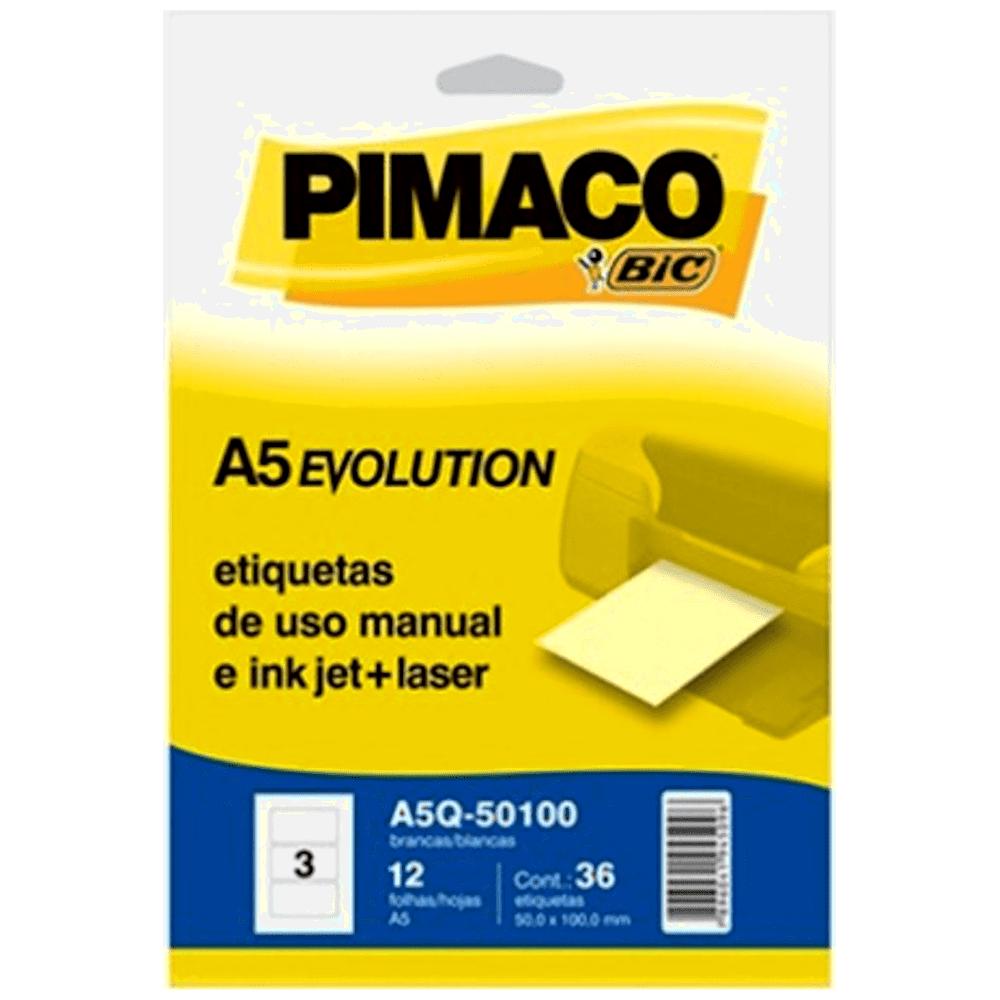 Etiqueta Pimaco A5Q-35105 Ink-Jet/Laser 35,0x105,5mm 60un