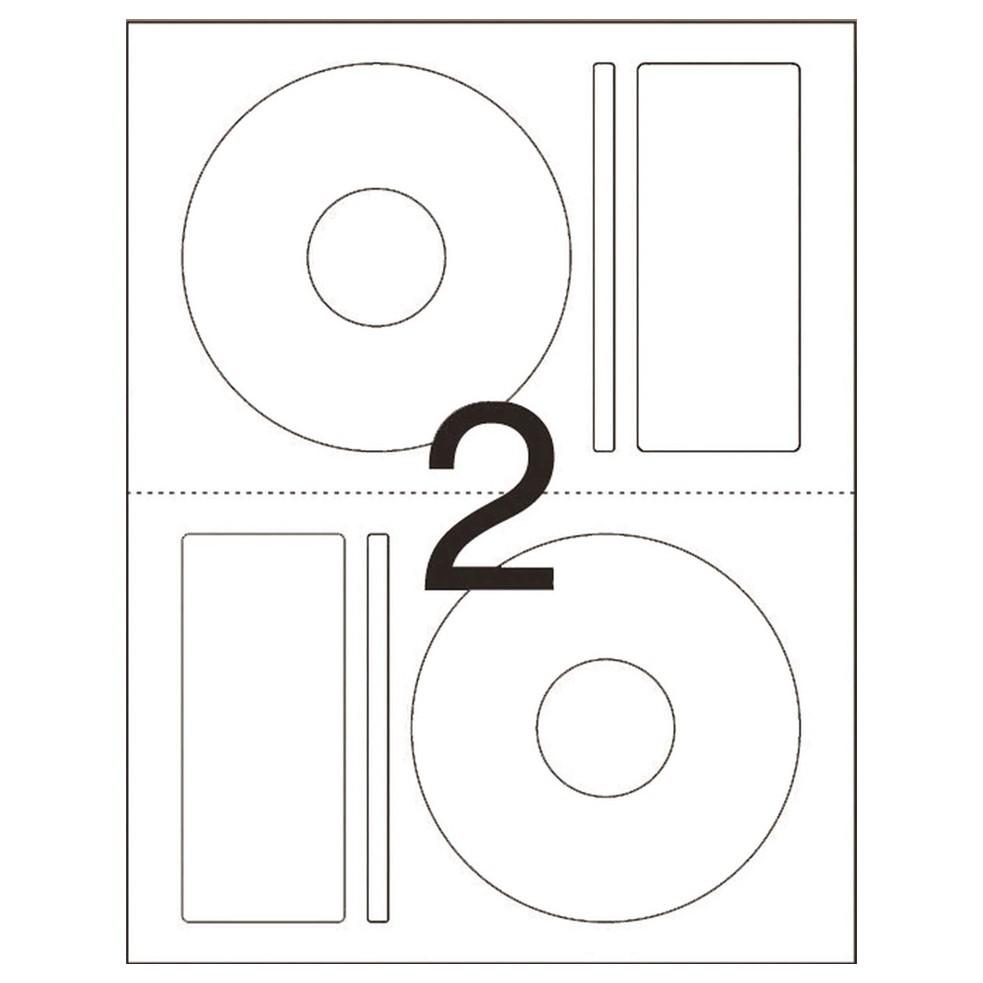 ETIQUETA PIMACO CD100B CDPPLY CD/DVD 115MM C/200UN