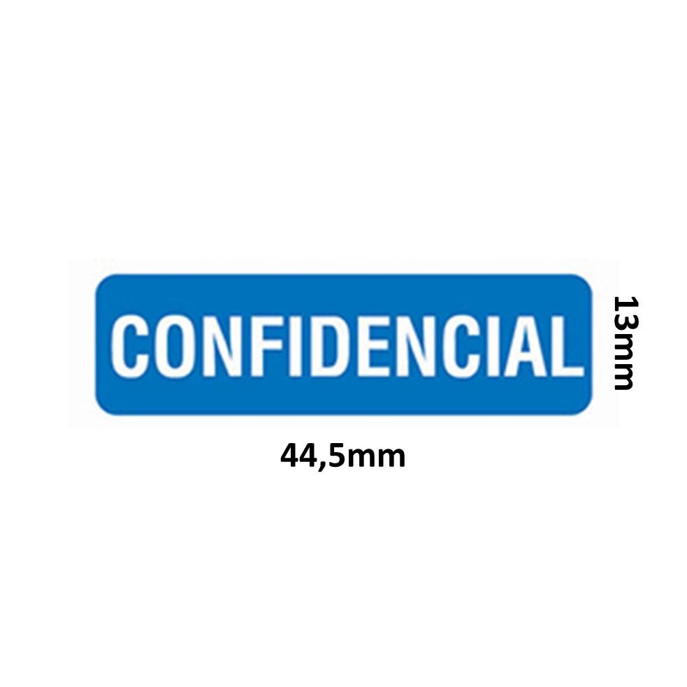 ETIQUETA PIMACO OP-1342 CONFIDENCIAL 13X44,5MM C/60UN