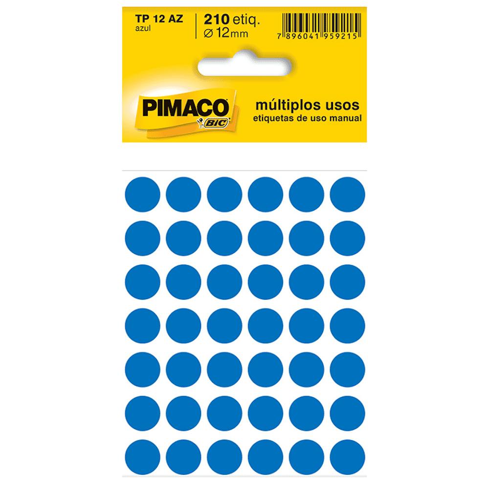 Etiqueta Pimaco TP12 Codificação Azul 12mm 210un