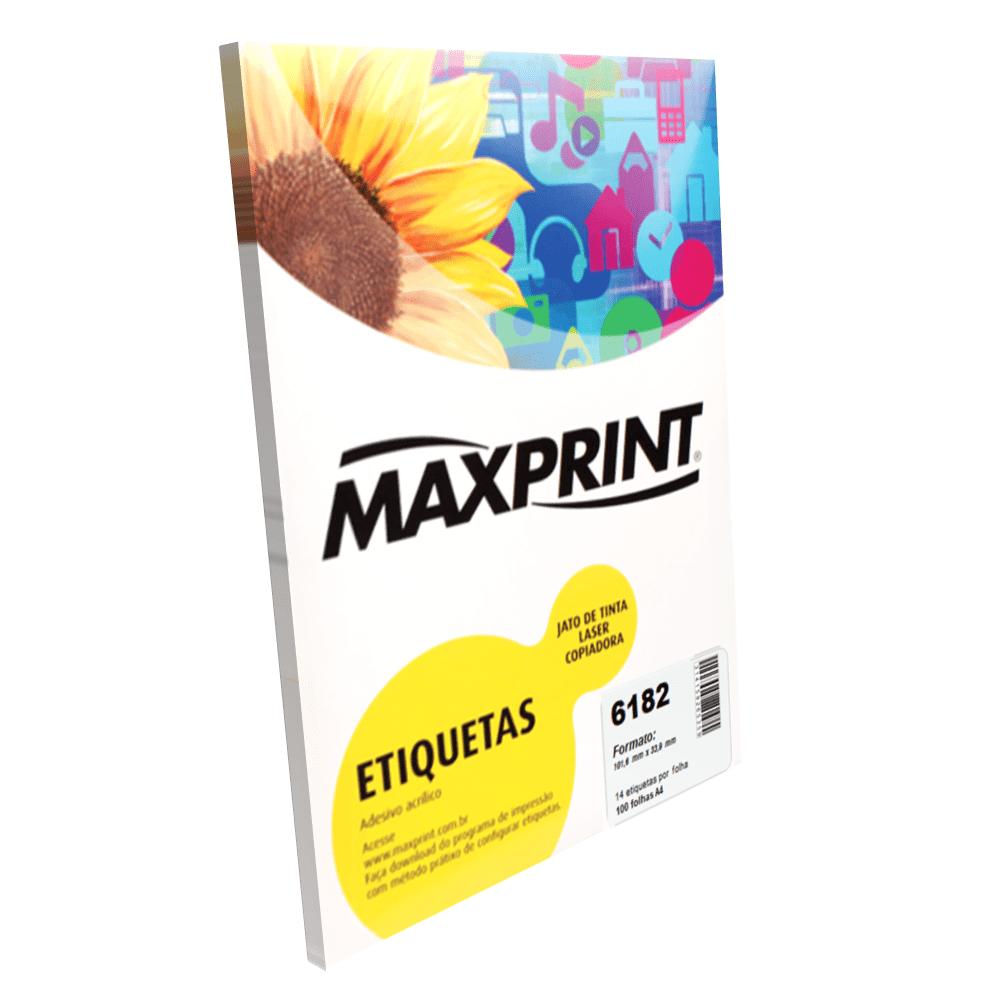 Etiqueta Maxprint 6182 Inkjet/Laser Carta com 100 Folhas 49218-5