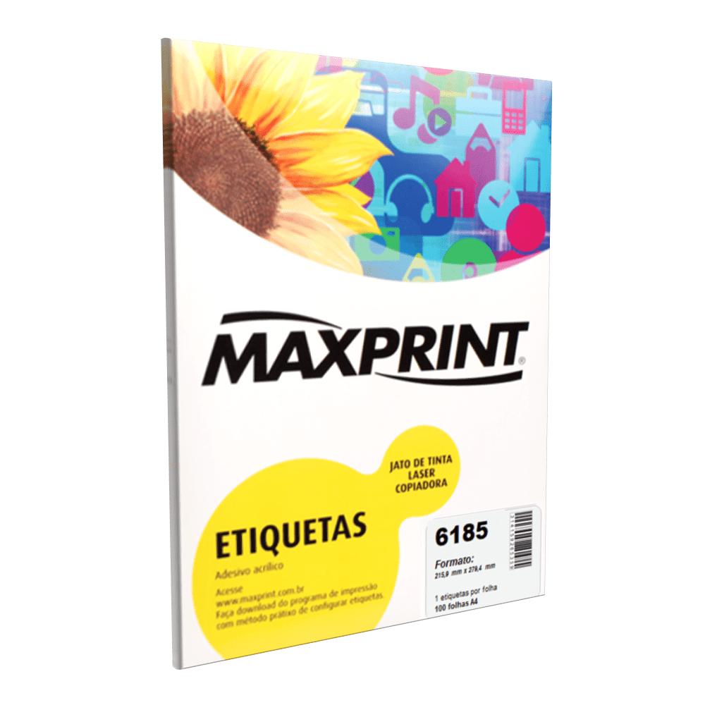 Etiqueta Maxprint 6185 Inkjet/Laser Carta com 100 Folhas 49221-9