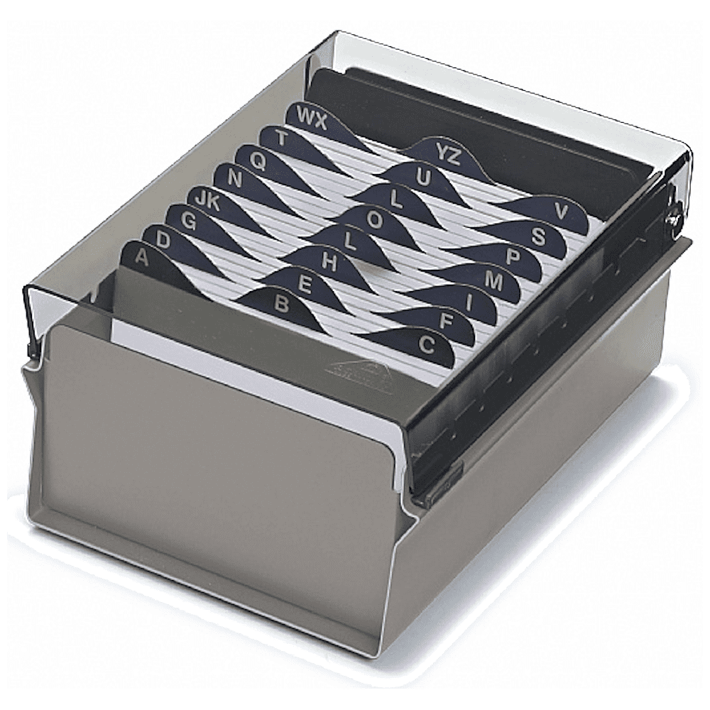 Fichário Base Metal/Acrílico Acrimet 3x5 Sem Índice 911.1