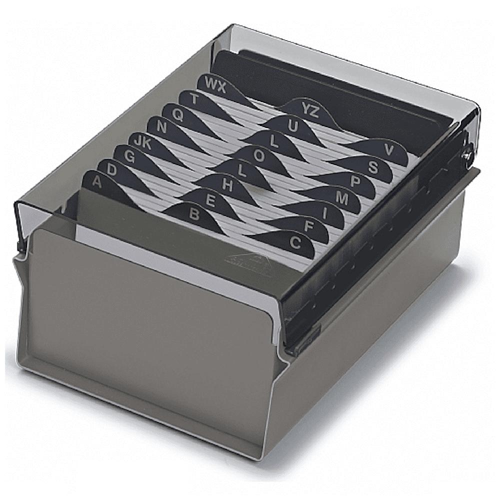 Fichário Base Metal/Acrilico Acrimet 3X5 Fume Com Indice 921.1