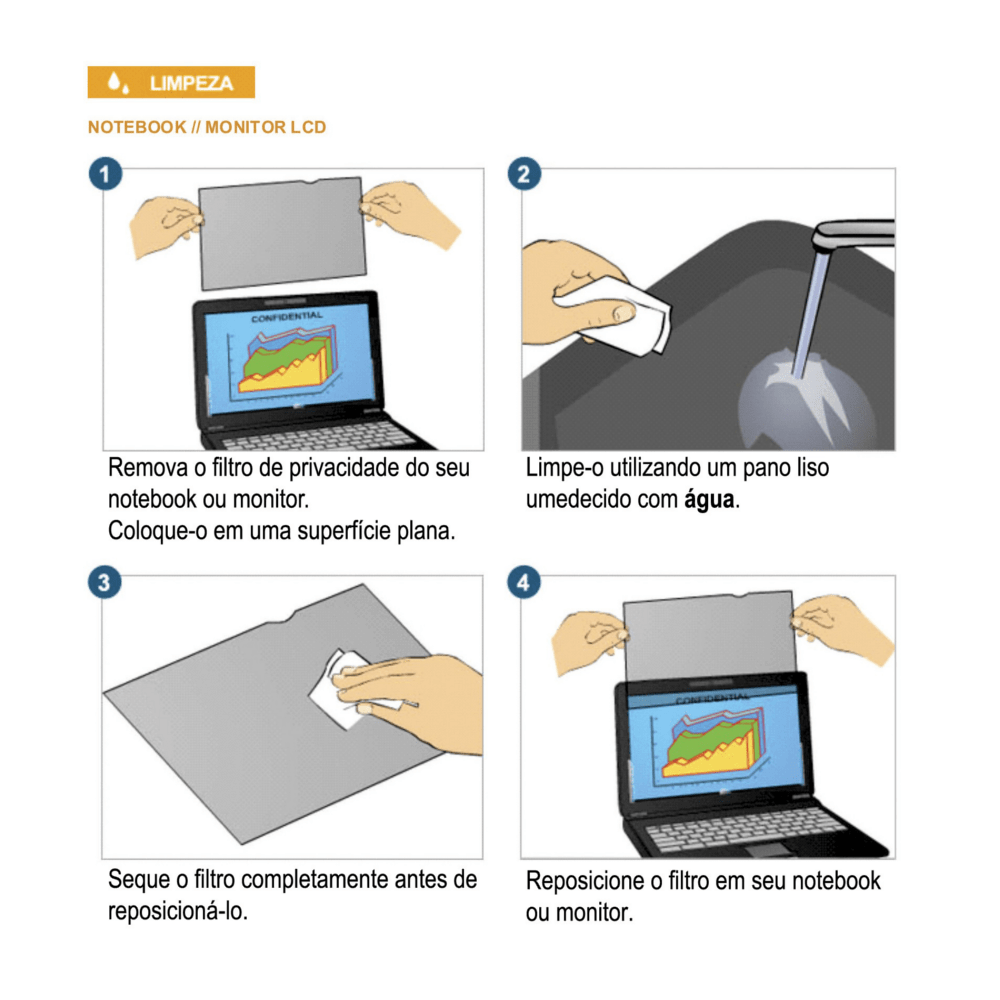 Filtro de Privacidade Notebook PF24.0W 3M