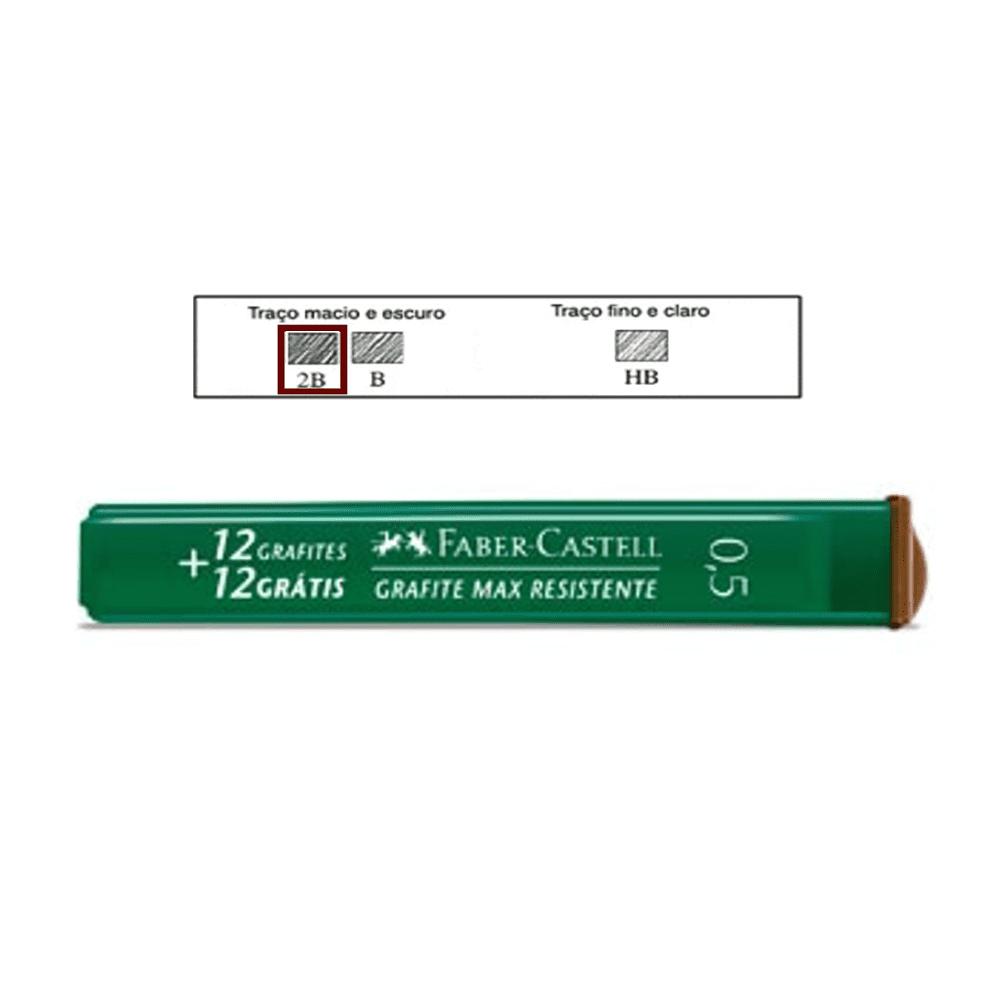Grafite 0,5mm 2B Faber Castell 24 Minas Grafites