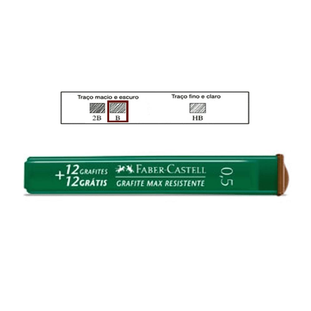 Grafite 0,5mm B Faber Castell 24 Minas Grafite