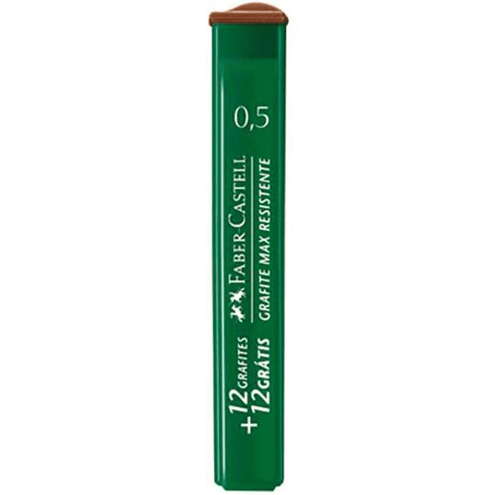 Grafite 0,5mm HB Faber Castell 12 Tubos