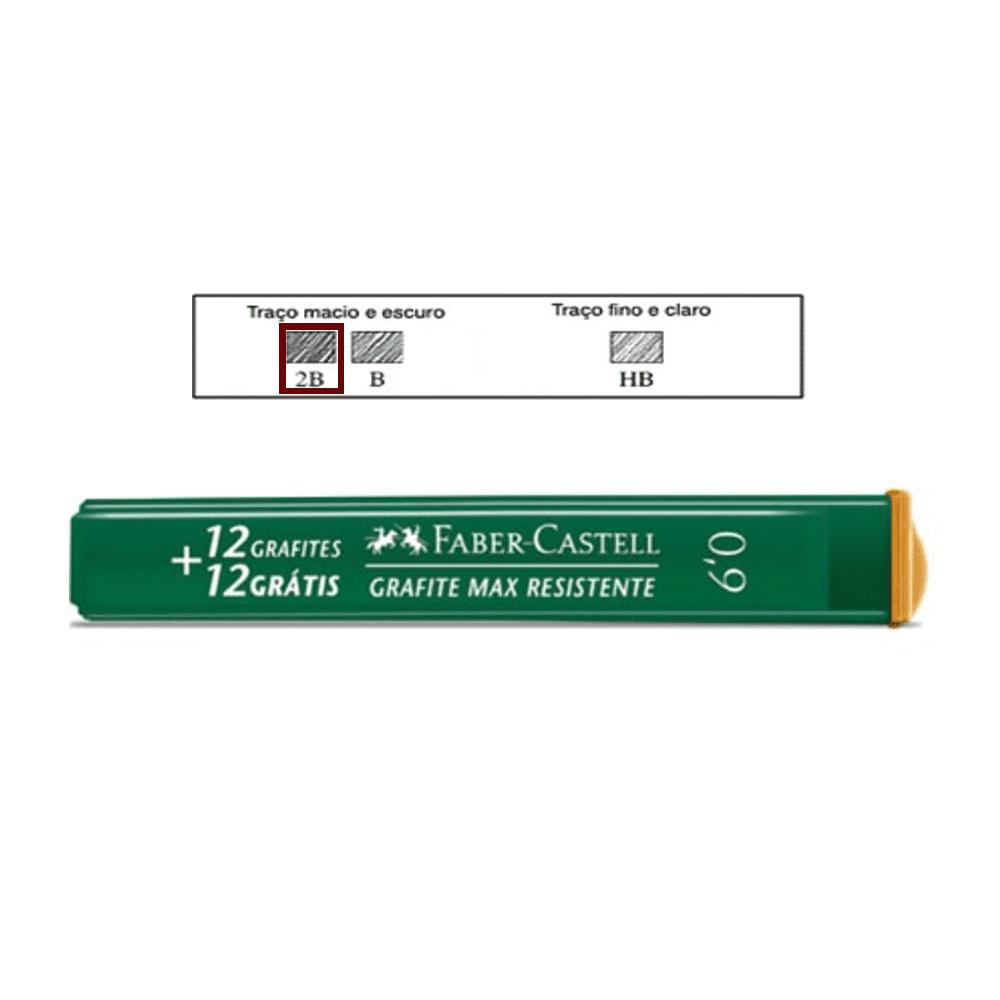 Grafite 0,9mm 2B Faber Castell 24 Minas Grafite