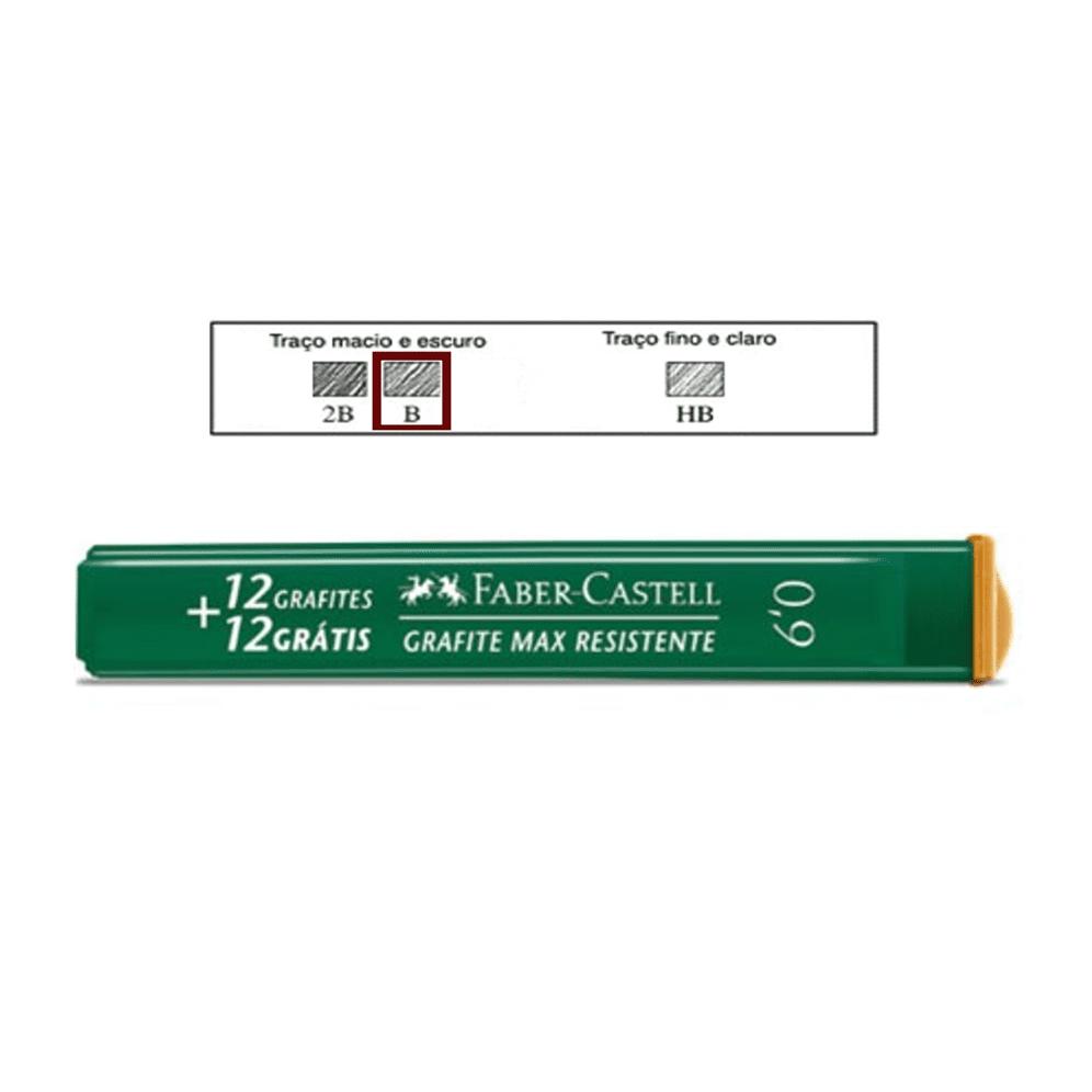 Grafite 0,9mm B Faber Castell 24 Minas Grafite
