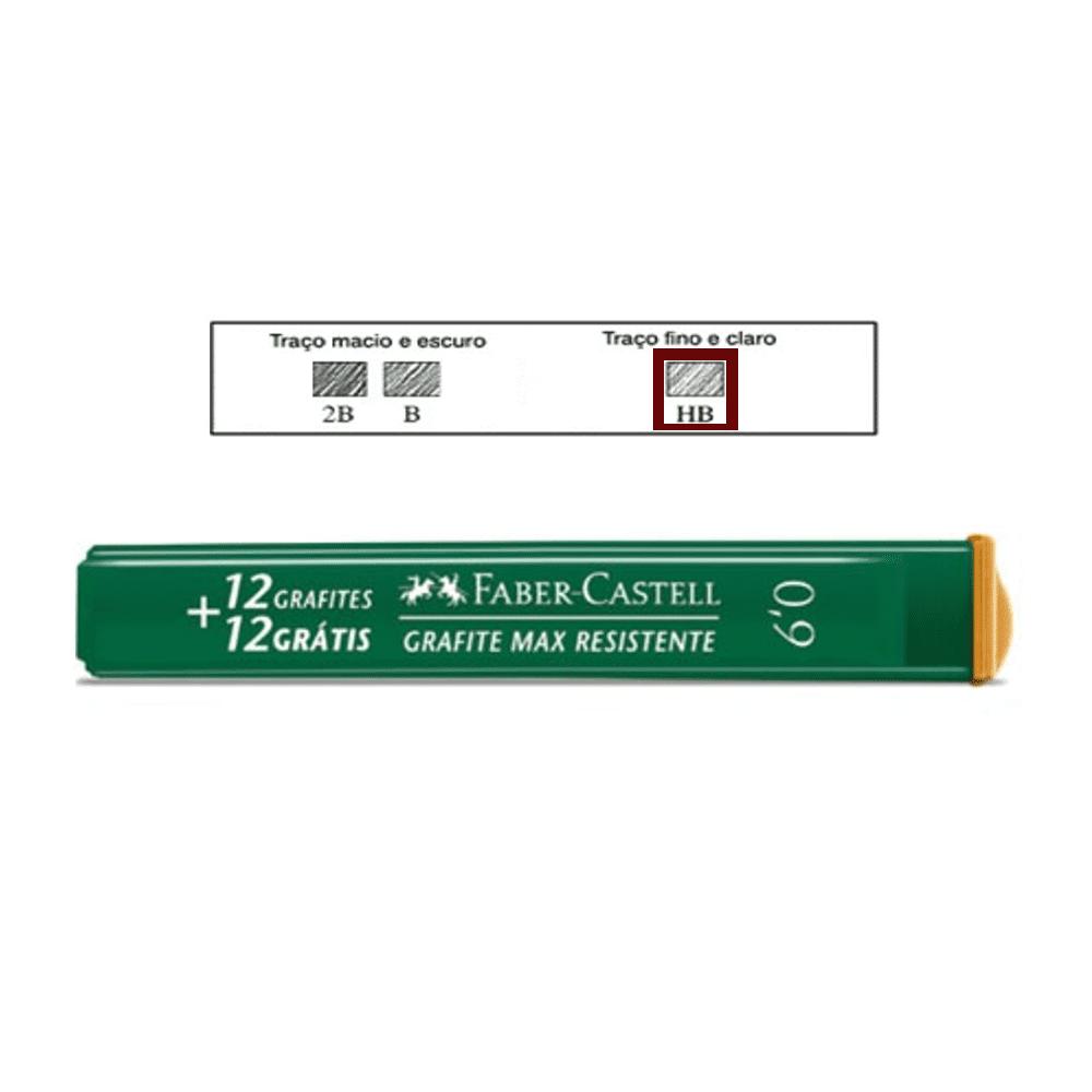 Grafite 0,9mm HB Faber Castell 24 Minas Grafite
