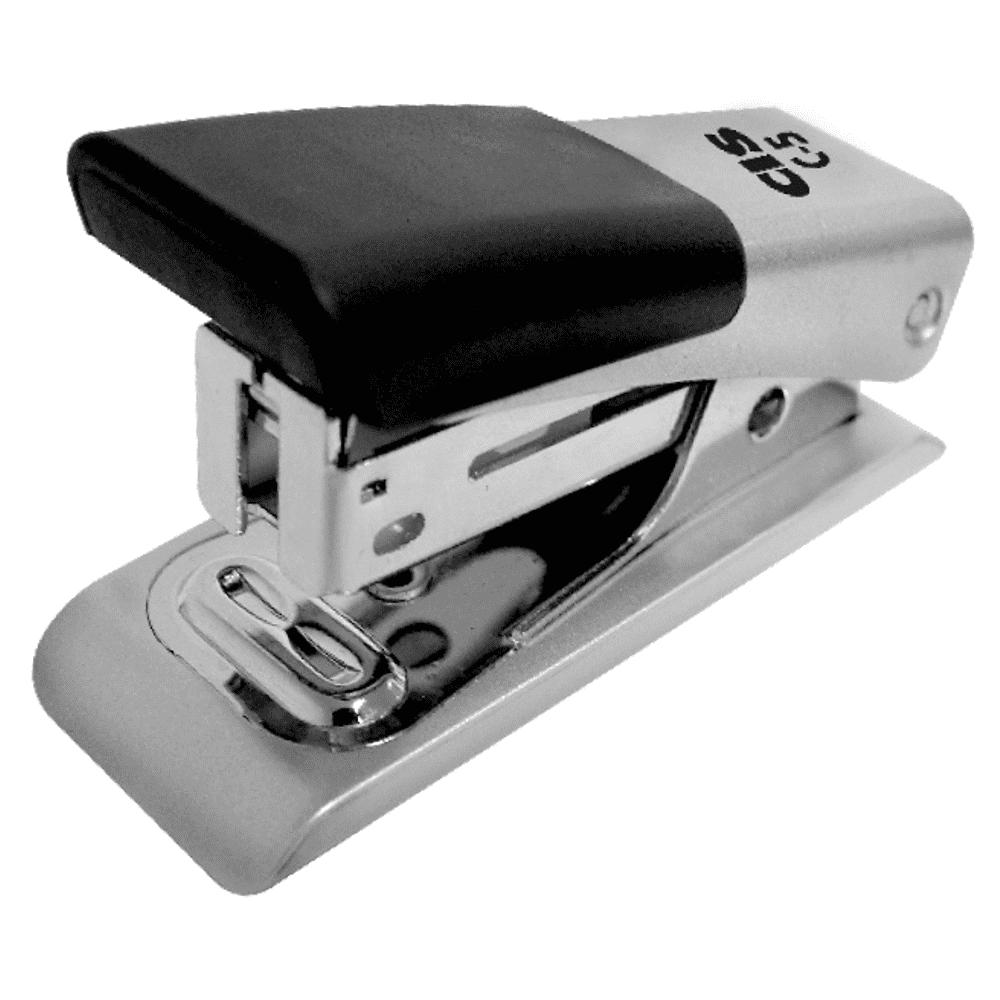 Grampeador Mini CIS 26/6 12 Folhas C-5 Emborrachado Cinza