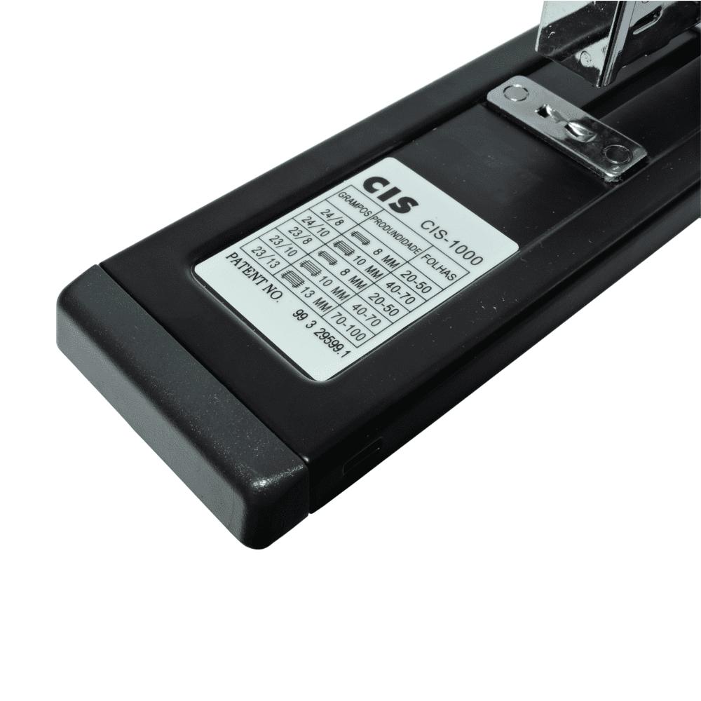 Grampeador Profissional CIS-1000 100 Folhas Preto
