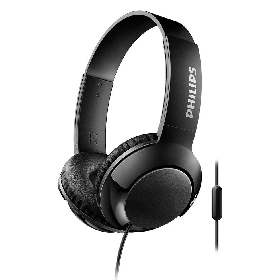 Headphone Philips Bass Shl3075bk C/Fio Preto