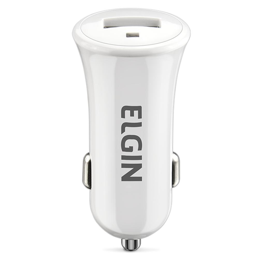 Kit Carregador USB Elgin Veicular Tomada Cabo Micro USB 1 Metro