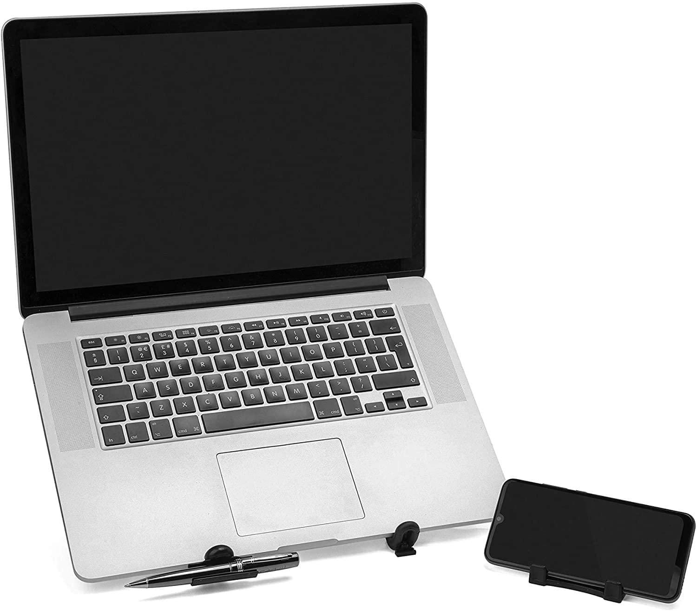 Kit Teclado K120 USB Preto Logitech e Suporte Notebook G4 Mutabis Cromado