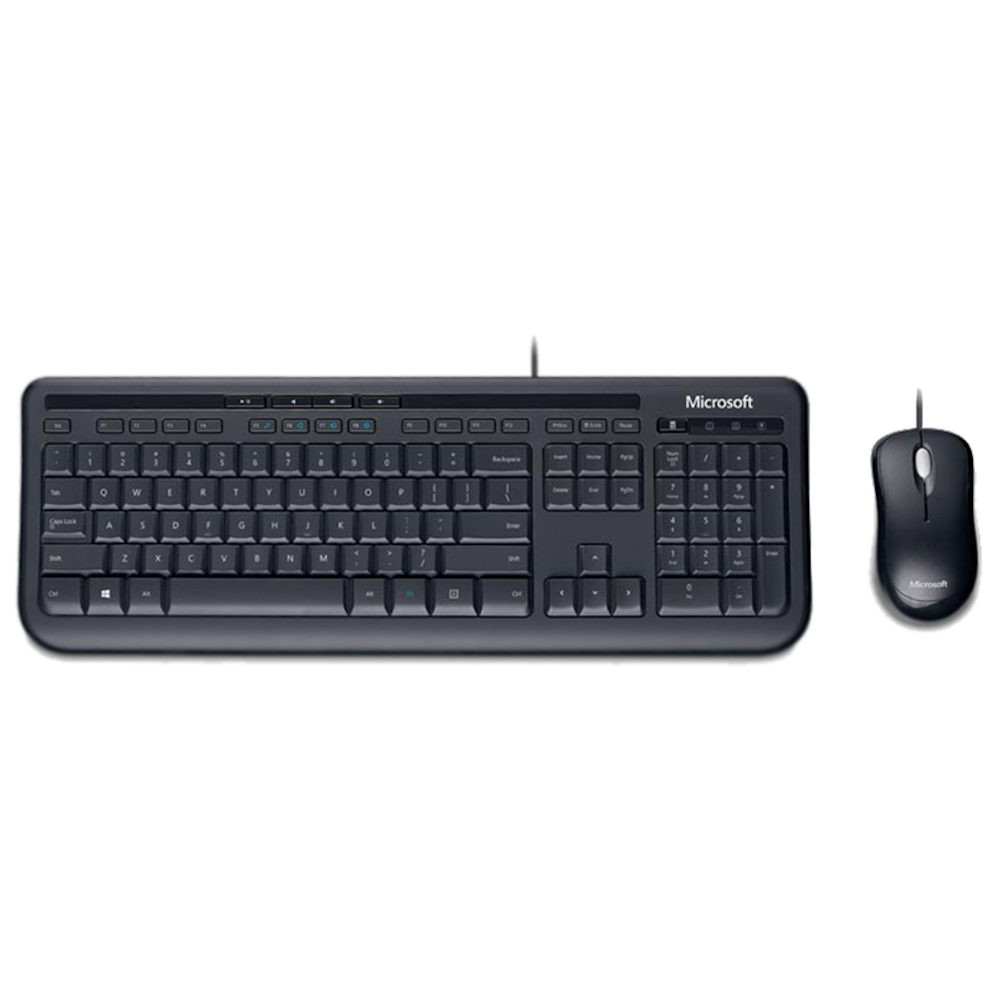 Kit Wired Teclado/Mouse Microsoft 600 Preto