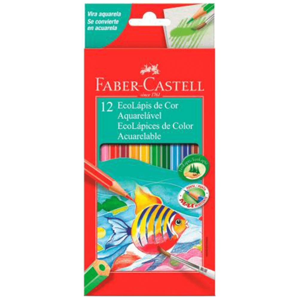 Lápis de Cor 12 Cores Aquarelável Faber Castell