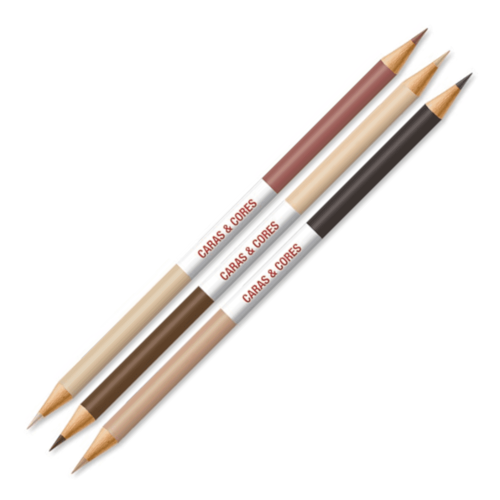 Lápis de Cor 24 Cores + 6 Tons de Pele Cara & Cores Faber Castell