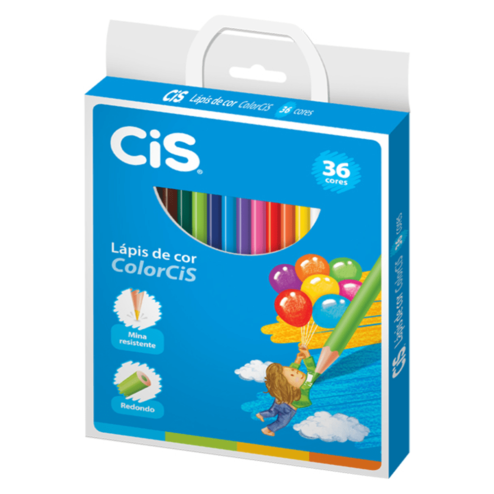 Lápis de Cor CIS 36 Cores Redondo ColorCIS
