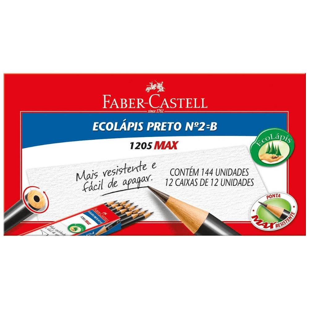 LAPIS PRETO FABER CASTELL N.2 REDONDO 1205M/144 C/144UN