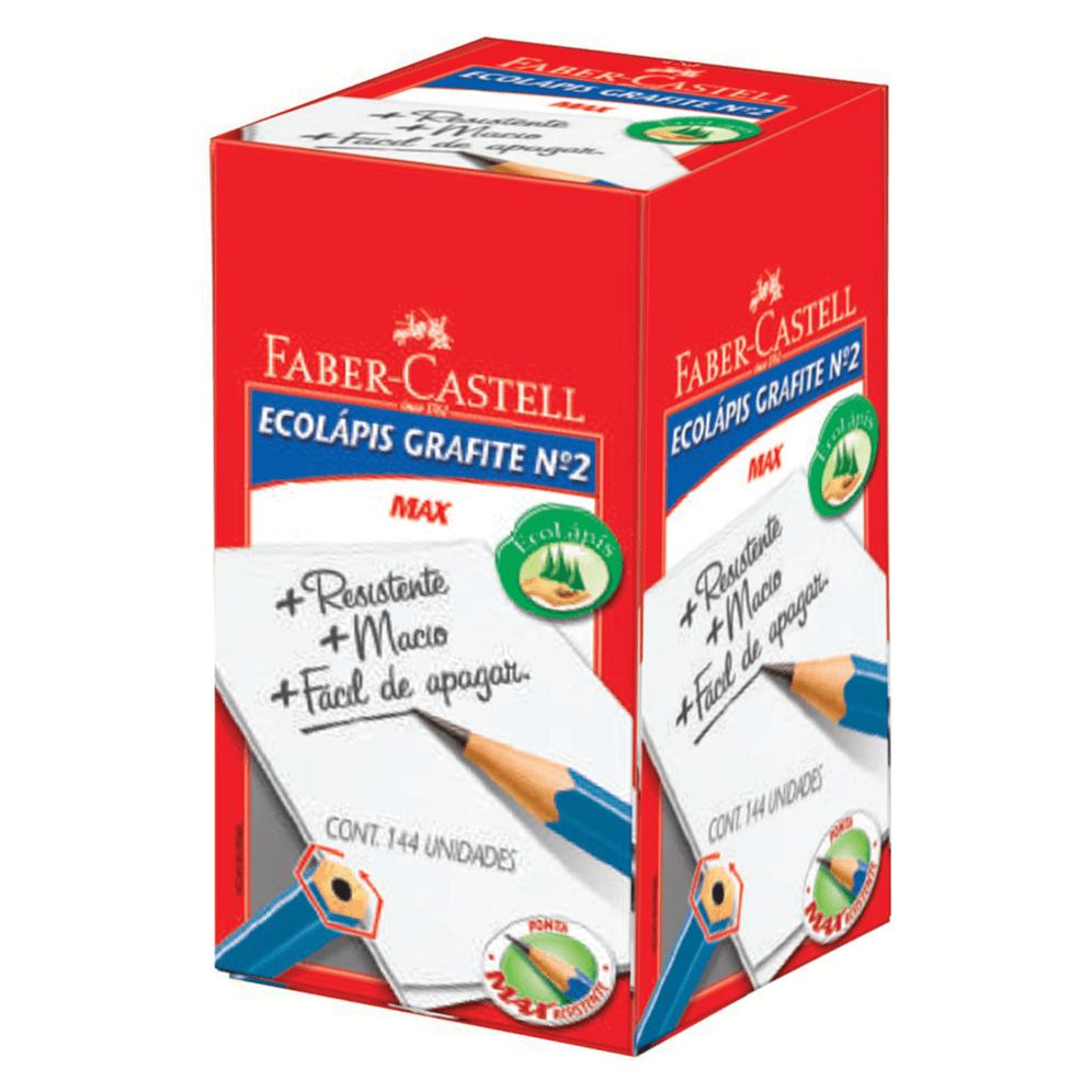 LAPIS PRETO FABER CASTELL N.2 SEXTAVADO 1210AZS/2 C/144UN
