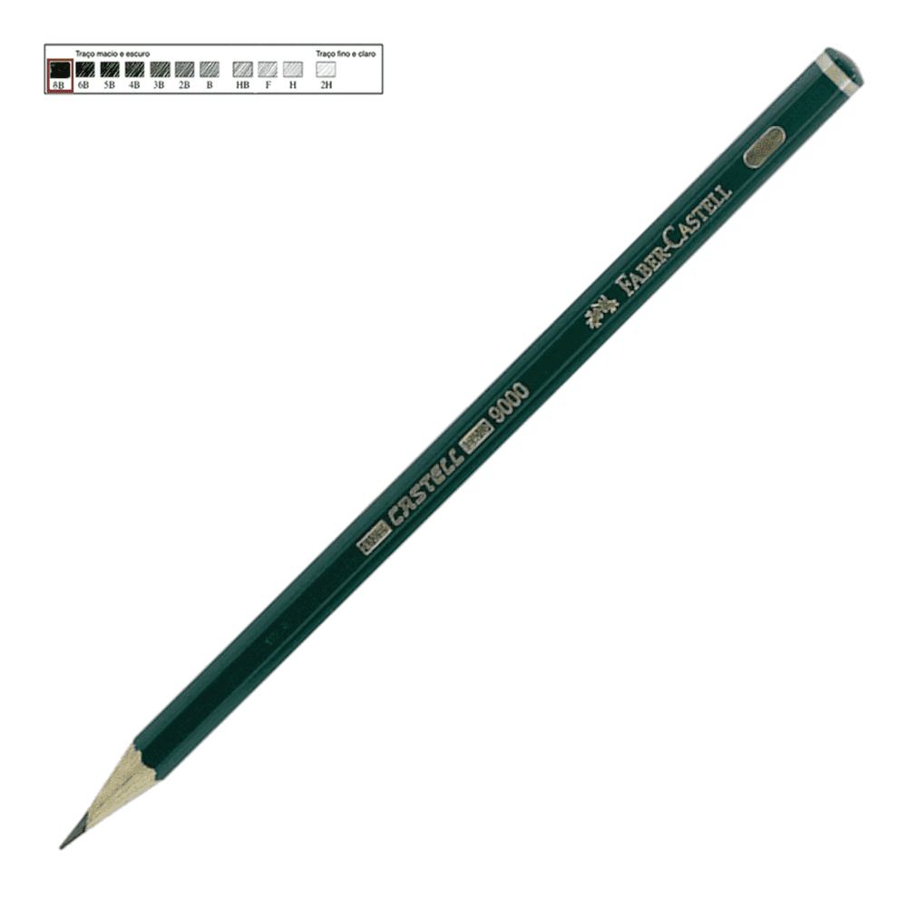 Lápis Técnico Faber Castell Preto Regent 9000-8B