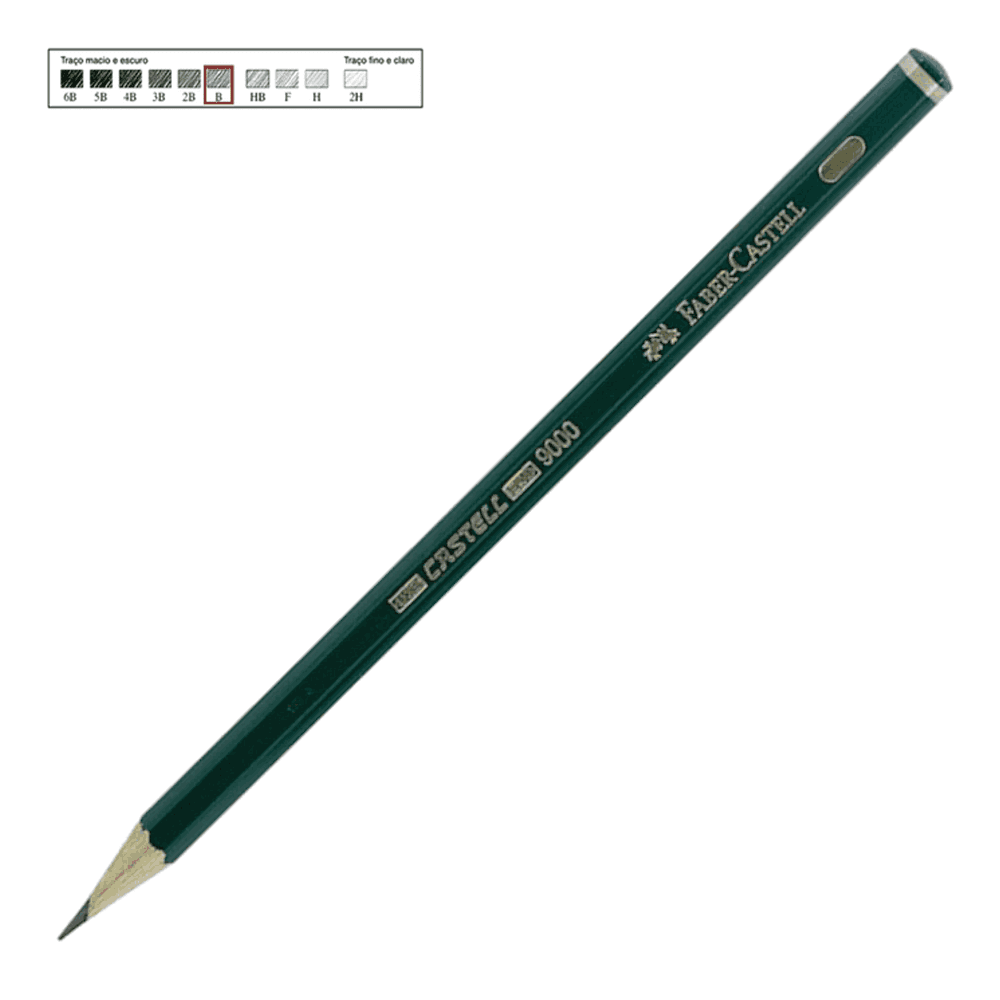 Lápis Técnico Faber Castell Preto Regent 9000-B