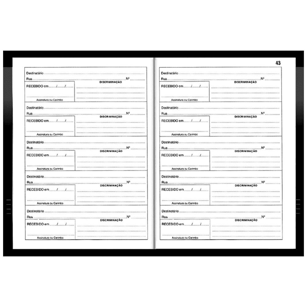 Livro Protocolo de Correspondência 1/4 104 Folhas 154x216mm