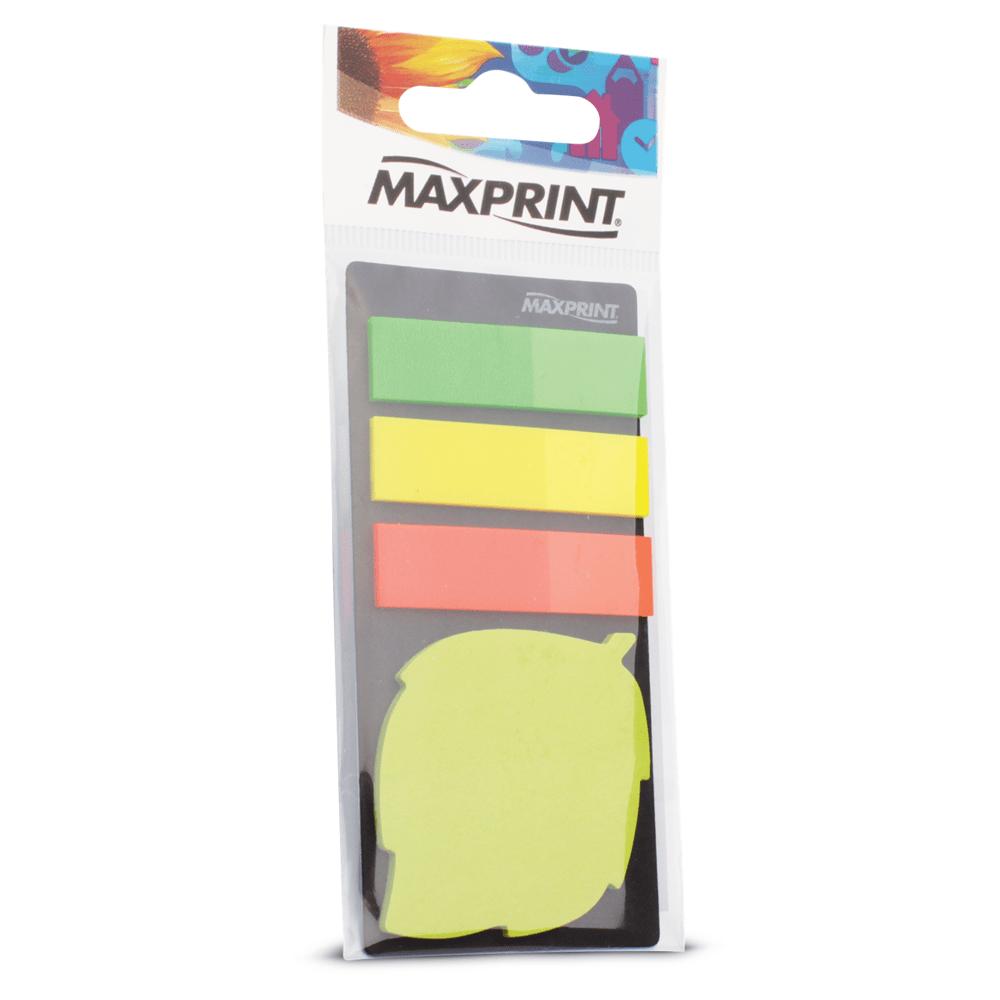 Marcador de Páginas Maxprint com Bloco Adesivo Folha 74348-8