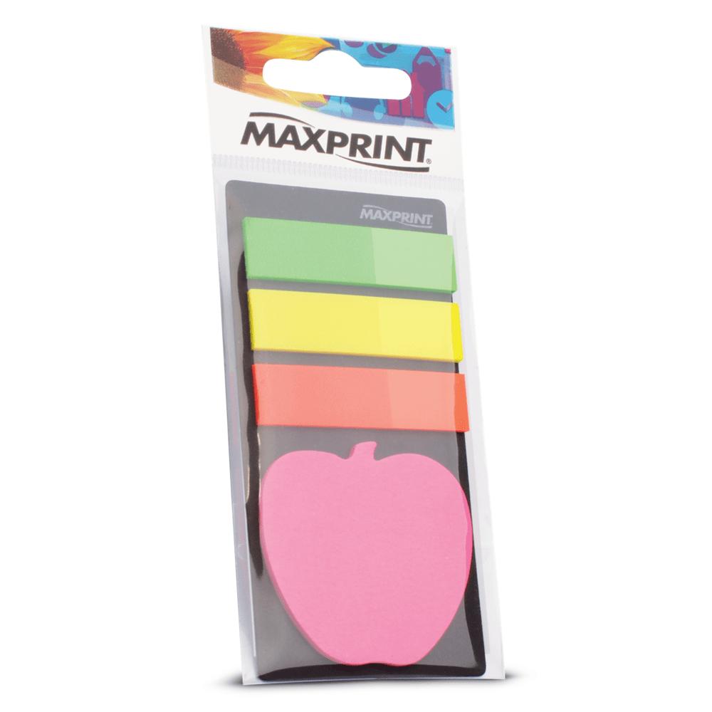 Marcador de Páginas Maxprint com Bloco Adesivo Maçã 74346-9