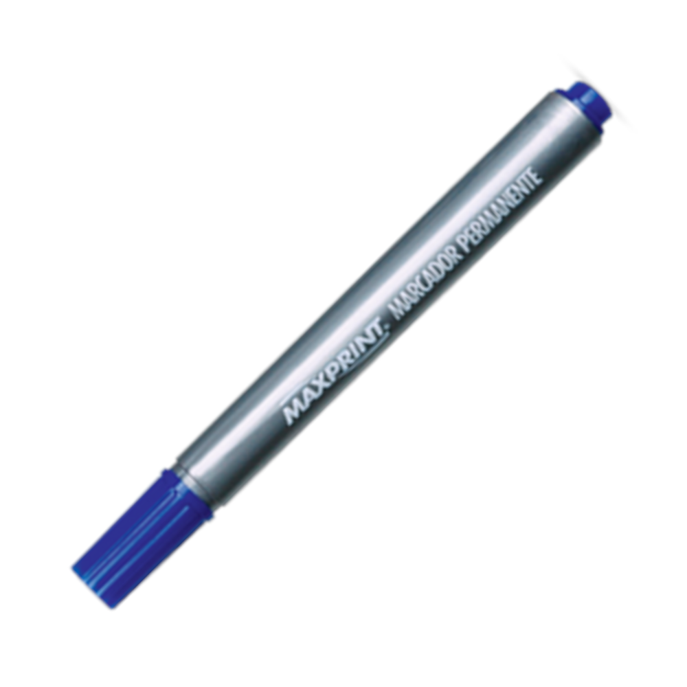 Marcador Permanente Maxprint 4.5mm Azul 70314-3