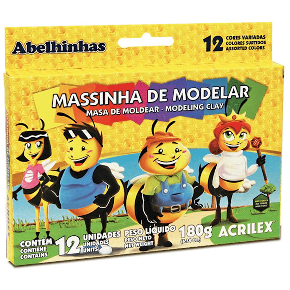 Massa de Modelar Acrilex 180g 12 Cores