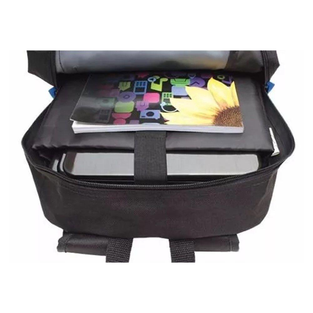 Mochila Notebook Maxprint Preta e Azul 609596