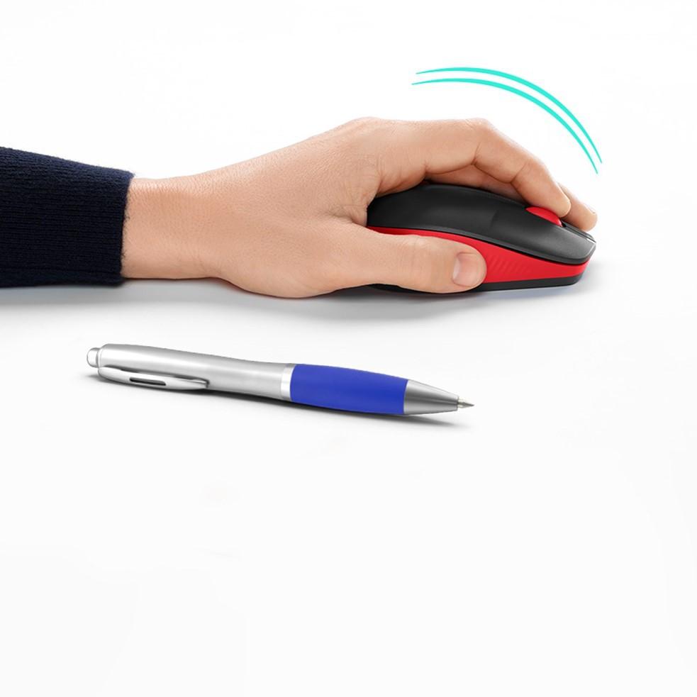 Mouse S/Fio Optico Logitech M190 Vermelho/Preto