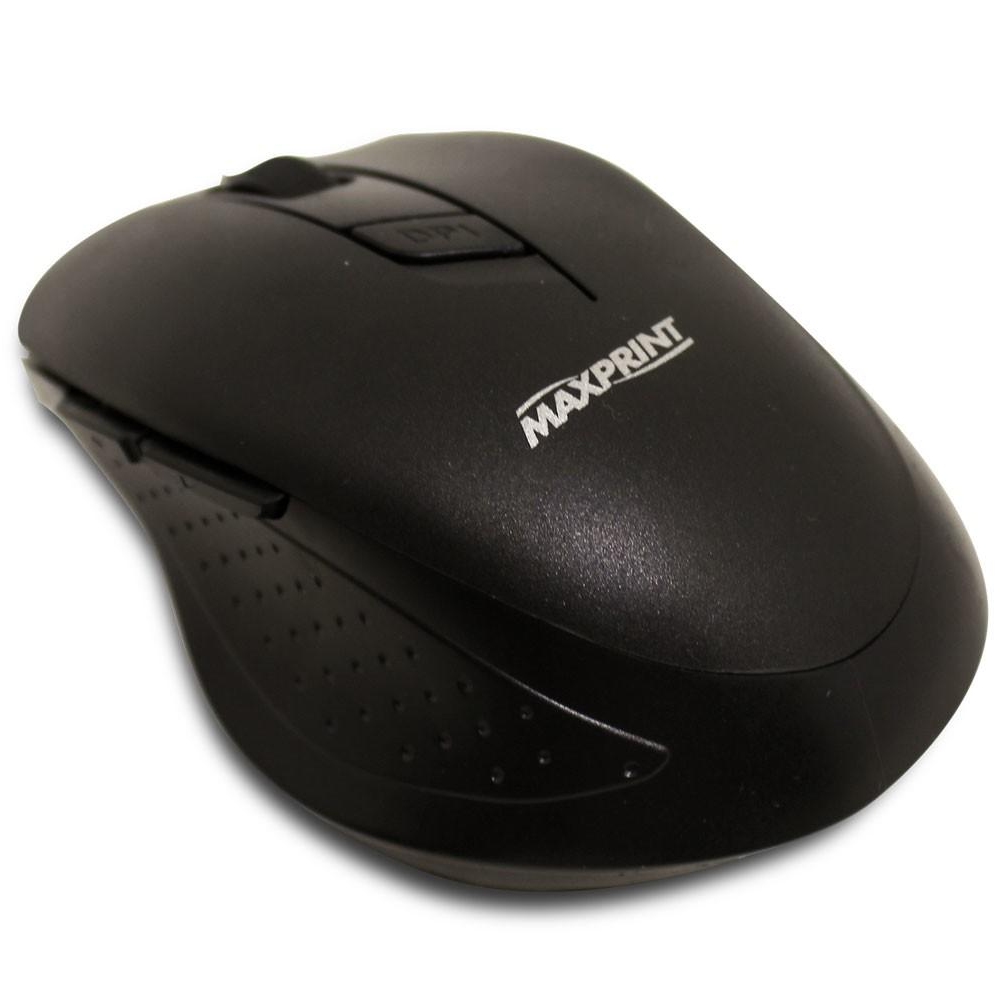 Mouse Sem Fio Maxprint 5 botões 1600DPI Preto