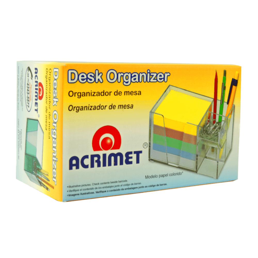 Organizador de Mesa Acrimet Cristal Com Papel Branco 750fls 954.3