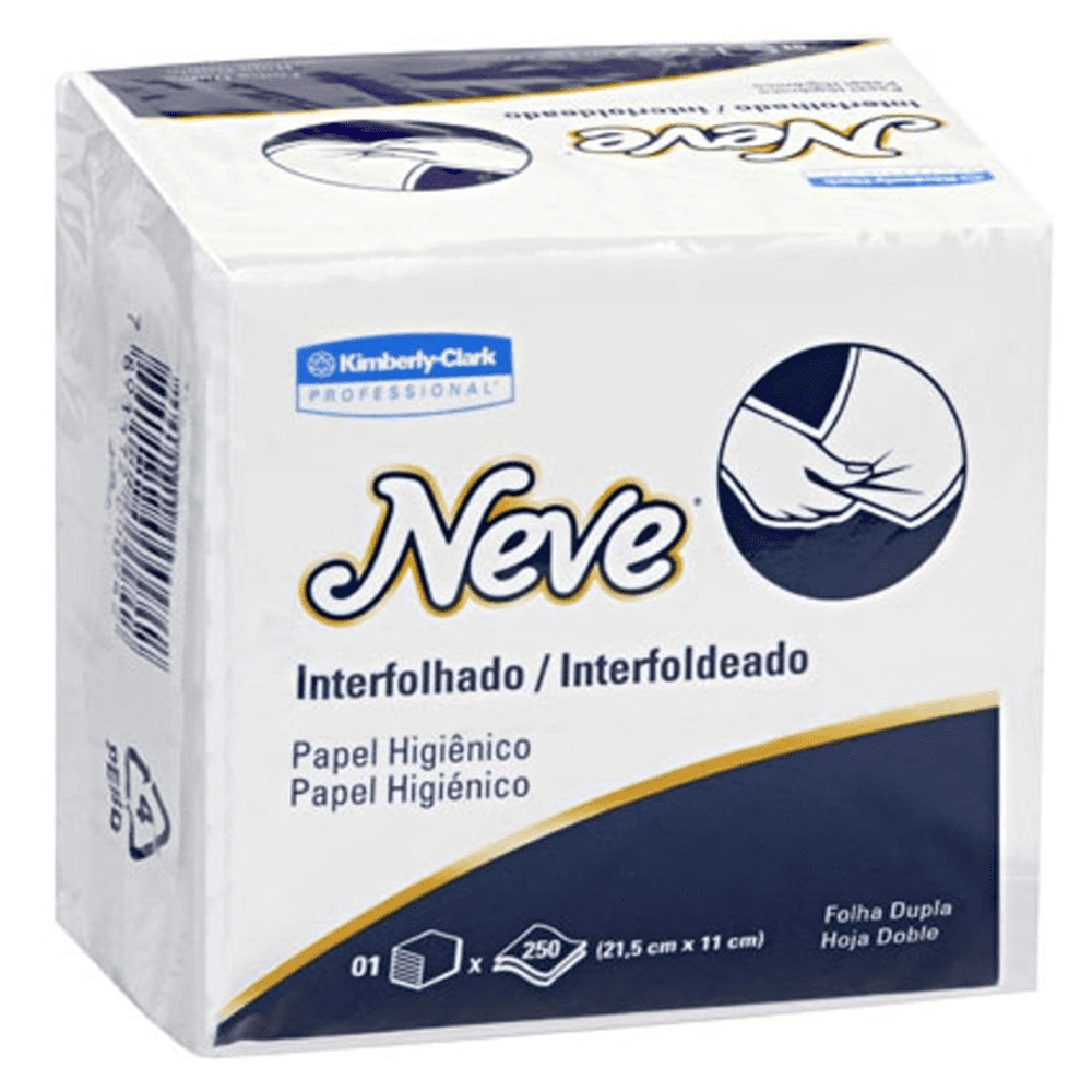 Papel Higiênico Interfolhado Folha Dupla 250 Folhas Neve
